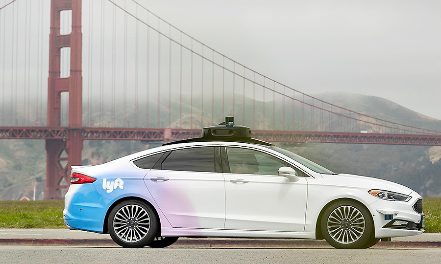 Lyft self-driving vehicle in San Francisco