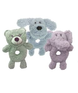 Multipet Aromadog Fleece Ring Body Plush Dog Toy Colors Vary!