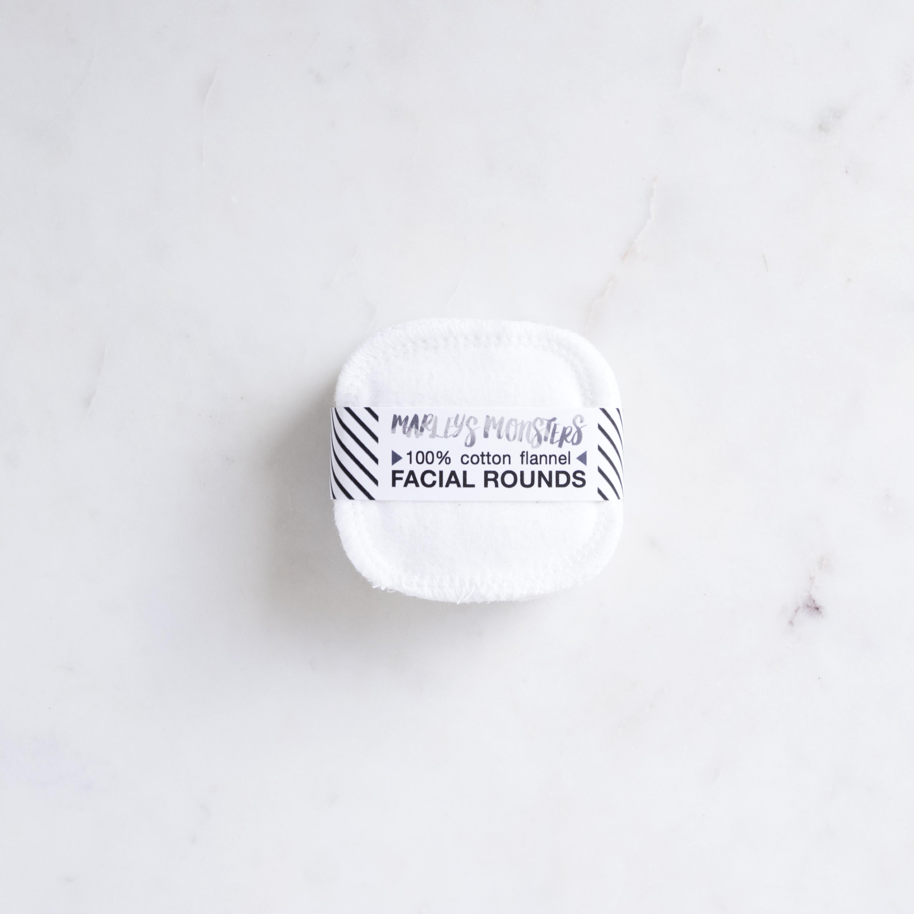 Reusable Facial Rounds 100 Organic Cotton Pads