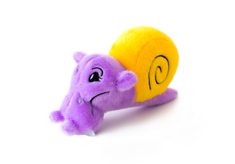 Topsy Turvies Hippo/Snail – Plush Dog Toy