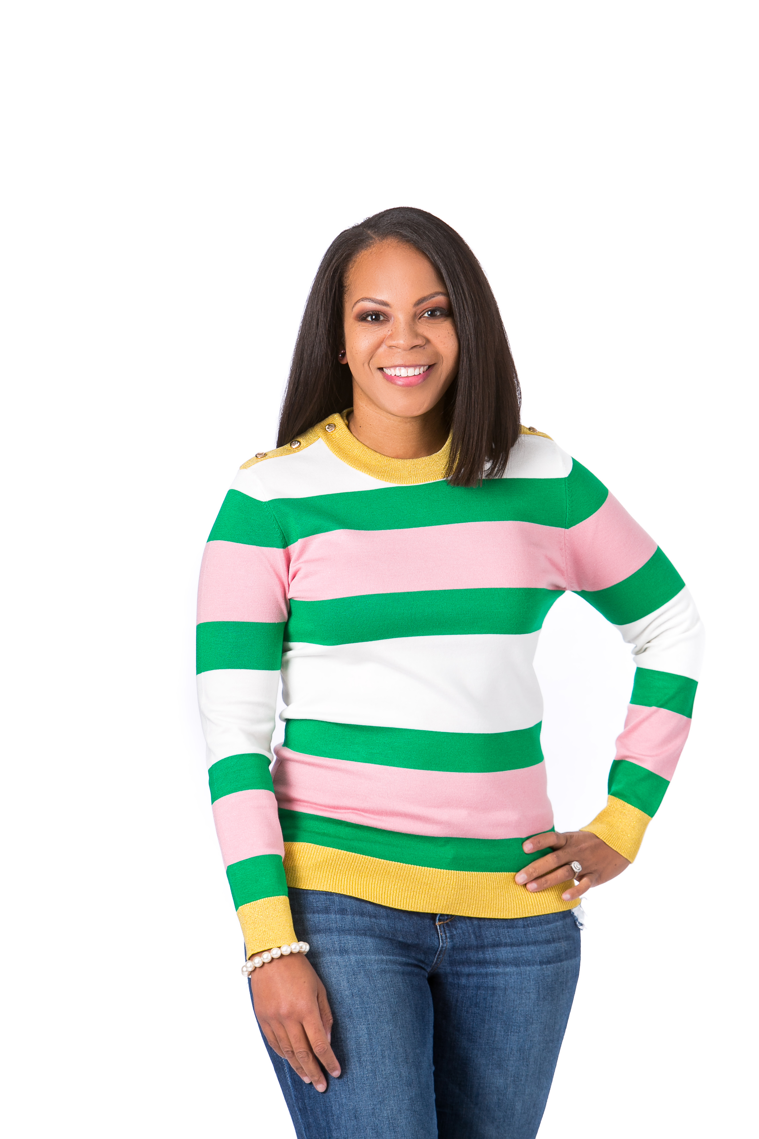 Women's Colorblock Crew Neck Sweater