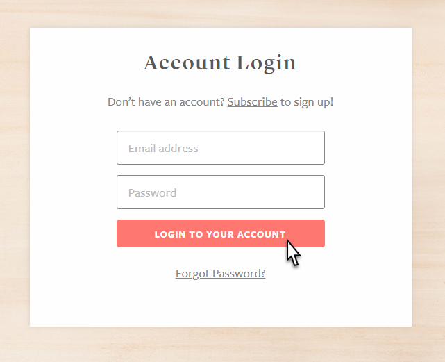 Log in to your account