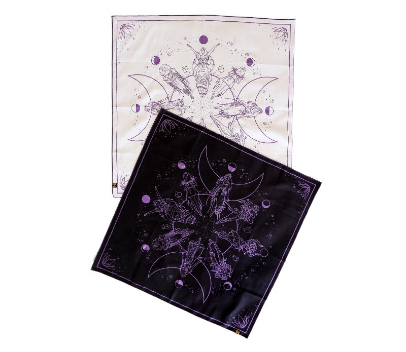 Crystal-Infused Organic Oracle Mat