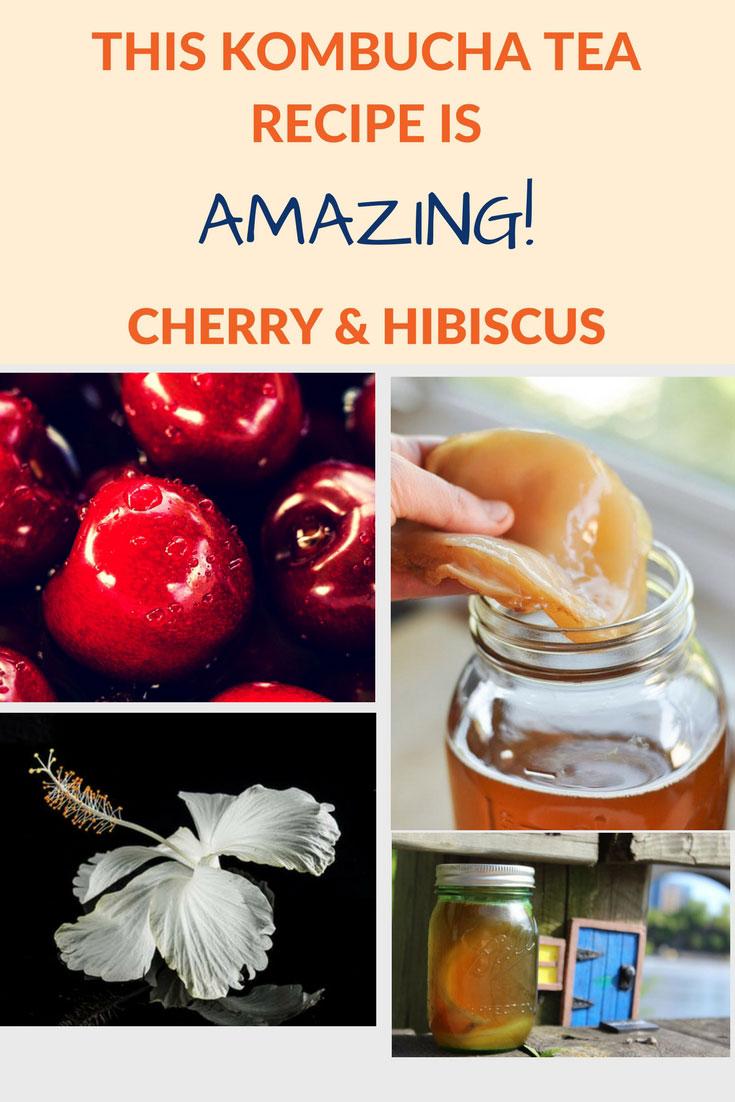 flavor kombucha cherry hibiscus