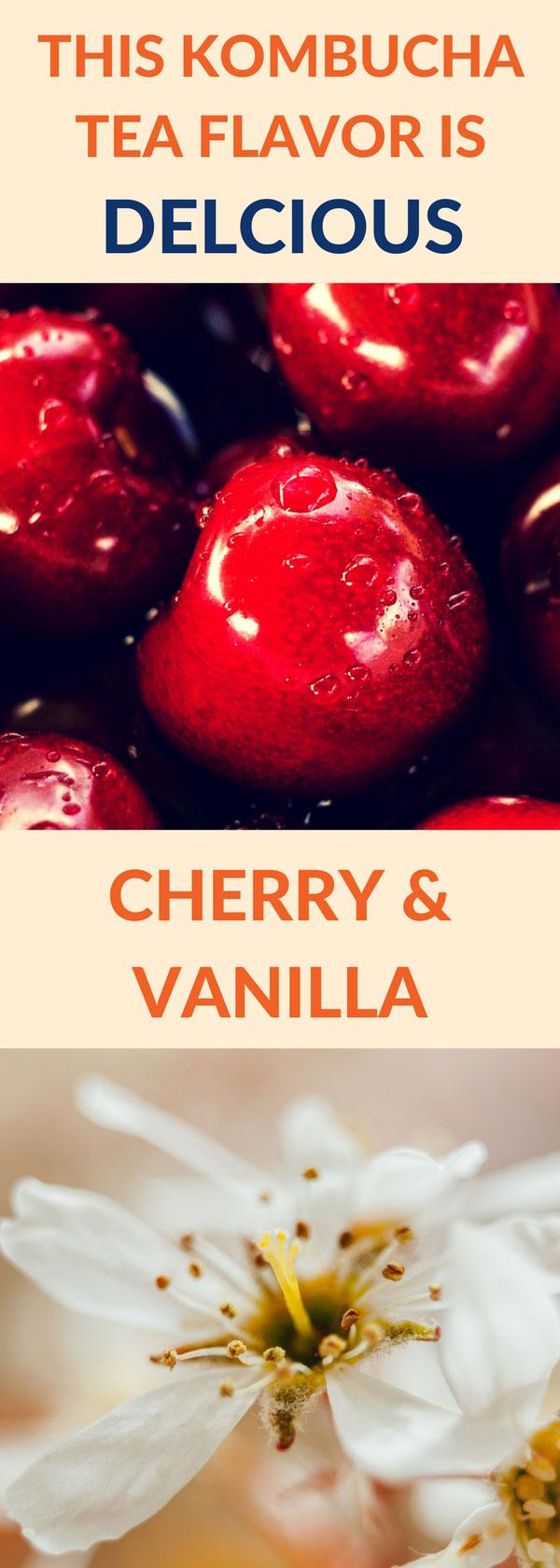 flavor kombucha cherry vanilla pin
