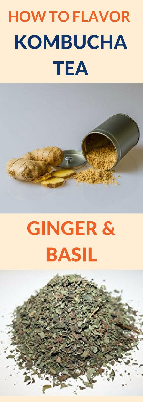 flavor kombucha ginger basil pin