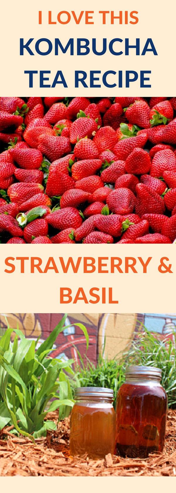 flavor kombucha strawberry basil pin