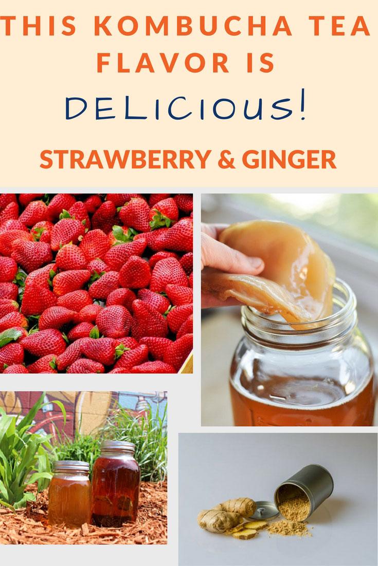 flavor kombucha ginger strawberry