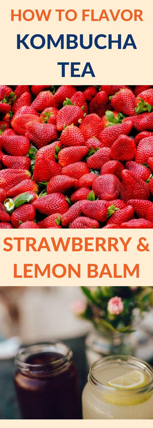 flavor kombucha strawberry lemon pin