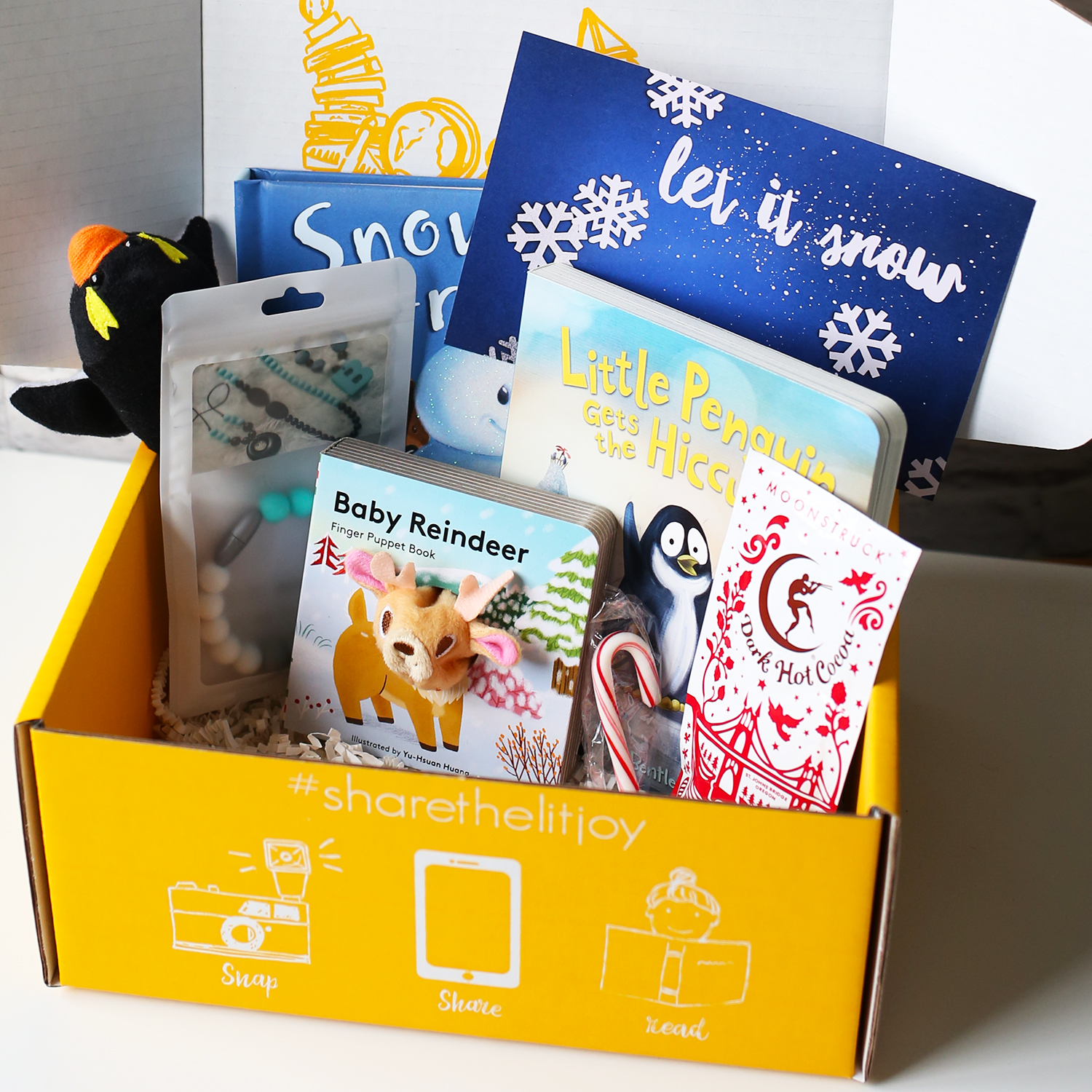 Board Book Past Crate - Let it Snow