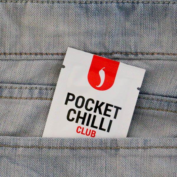 Pocket chilli sachet in jeans pocket