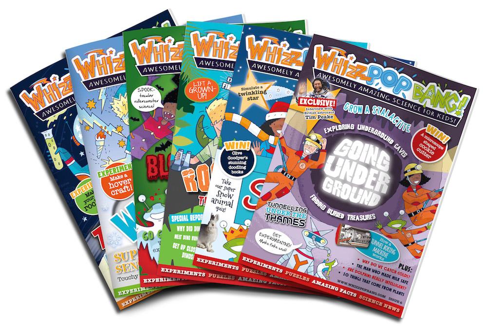 Children's science magazine covers