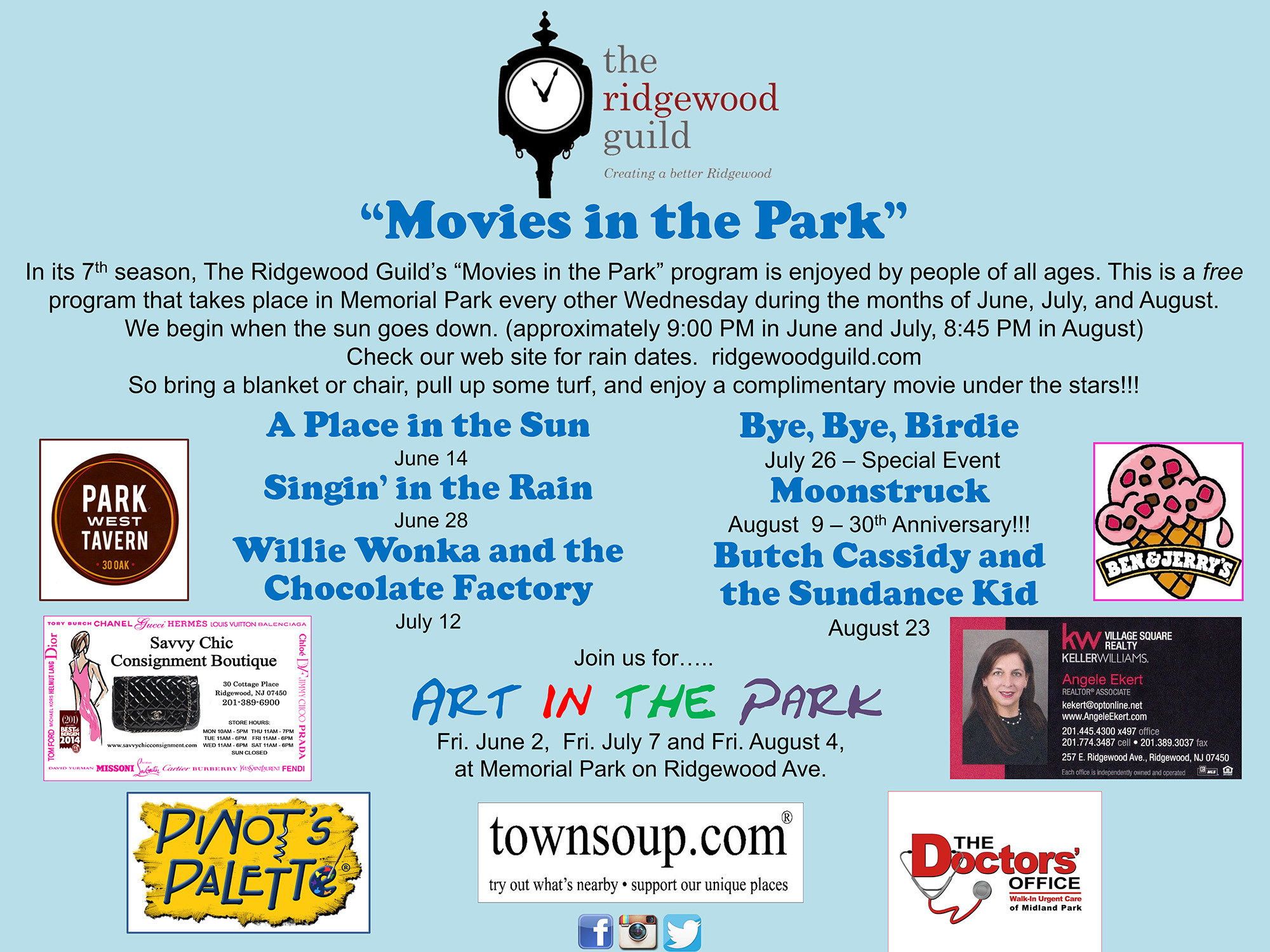 2017 Movies in the Park Schedule
