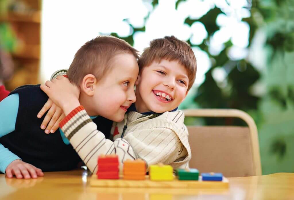 Happy Kids with Disabilities in preschool