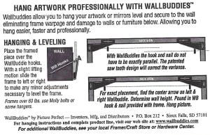 Wall Buddy instructions