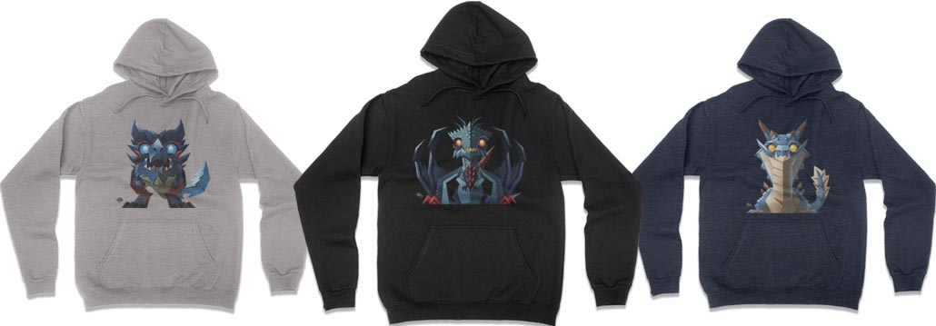 Monster Hunter Minis Now Available as Hoodies!