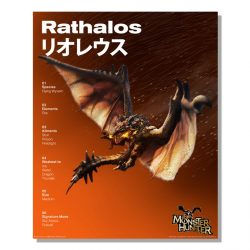 Rathalos Official Arts Poster