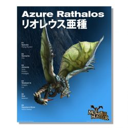 Azure Rathalos Official Arts Poster