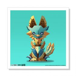 "Mini Zinogre 5""x5"" Art Print"