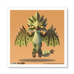 "Mini Rathian 5""x5"" Art Print"