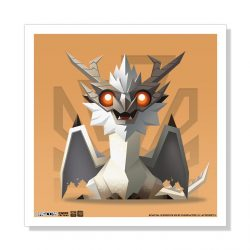 "Mini White Fatalis 5""x5"" Art Print"