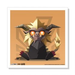 "Mini Rajang 5""x5"" Art Print"