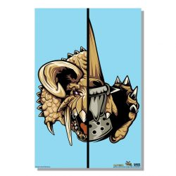 "Aqua Half Monster / Half Hunter Diablos 24x36"" Poster"