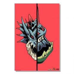 "Red Half Monster / Half Hunter Lagiacrus 24x36"" Poster"