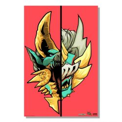 "Red Half Monster / Half Hunter Zinogre 24x36"" Poster"