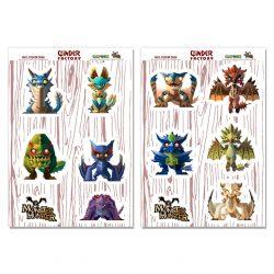 Monster Hunter Stickers - Minis Pack 1