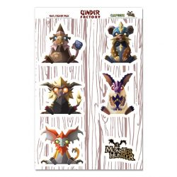 Minis Fanged Beasts Pack - 6 Vinyl Stickers