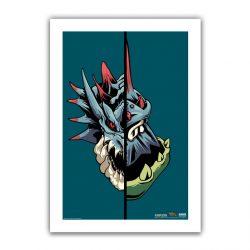 """Teal Half / Half Lagiacrus 6.6x10"""" Art Print"""