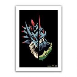 "Black Half / Half Lagiacrus 6.6x10"" Art Print"