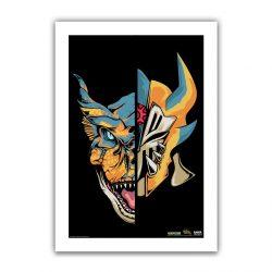 "Black Half / Half Tigrex 6.6x10"" Art Print"
