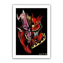"""Black Half / Half Teostra 6.6x10"""" Art Print"""