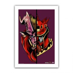 "Berry Half / Half Teostra 6.6x10"" Art Print"