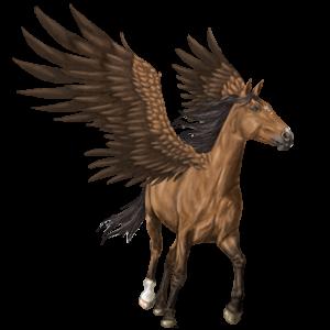 Pegaz wierzchowy Koń achał-tekiński Jasnokasztanowata