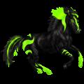 סוס רכיבה תורוברד שחור