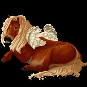 Pegasus Shetlandspony Rød med lys man og hale
