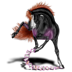 Riding Horse Thoroughbred Mouse Gray