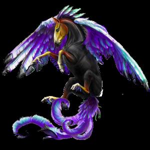 Pegasus-Reitpferd Mustang Dunkelbrauner