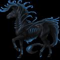 Cheval de selle Mustang Spotted Noir