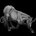 Riding unicorn Russian Don Horse Liver chestnut