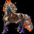 Winged riding unicorn Liver chestnut