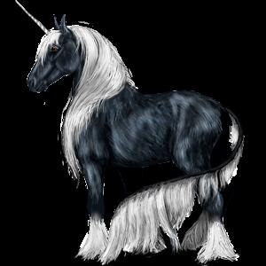 Unicornio poni Shetland Pío Tobiano Bayo