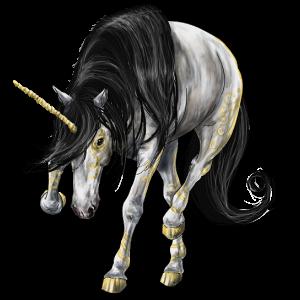Riding unicorn Purebred Spanish Horse Mouse Grey
