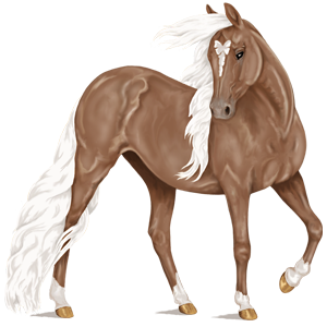 Riding Horse Purebred Spanish Horse Flaxen Liver chestnut