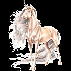 Riding unicorn Akhal-Teke Chestnut