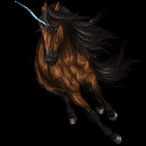 Jednorożec wierzchowy Koń pełnej krwi angielskiej Siwa Jabłkowita