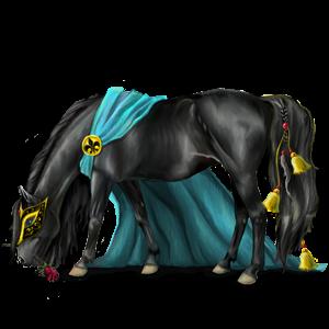 Pegasus Andalusier Leverrød med lys man og hale